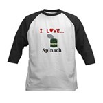 I Love Spinach Kids Baseball Jersey
