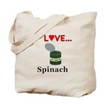 I Love Spinach Tote Bag