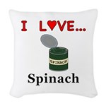 I Love Spinach Woven Throw Pillow