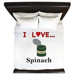 I Love Spinach King Duvet