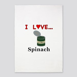 I Love Spinach 5'x7'Area Rug
