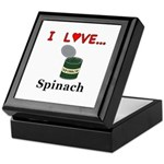 I Love Spinach Keepsake Box
