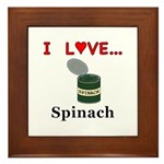 I Love Spinach Framed Tile