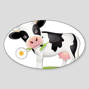 Flower Power Cow Sticker