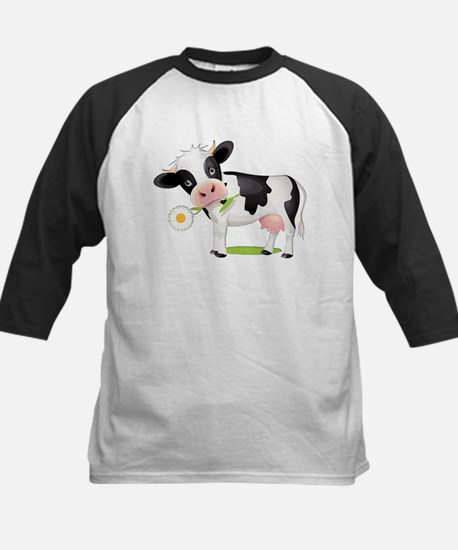 Flower Power Cow Baseball Jersey