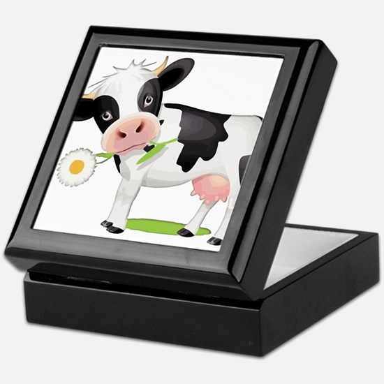 Flower Power Cow Keepsake Box