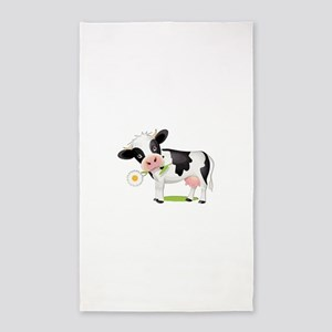 Flower Power Cow Area Rug