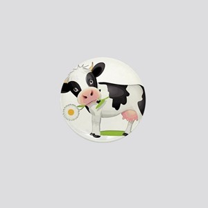 Flower Power Cow Mini Button