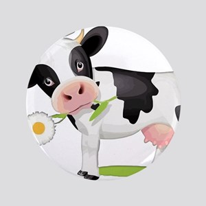Flower Power Cow Button
