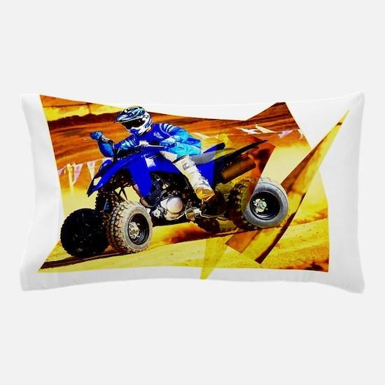 ATV in Blue Diagonals Pillow Case