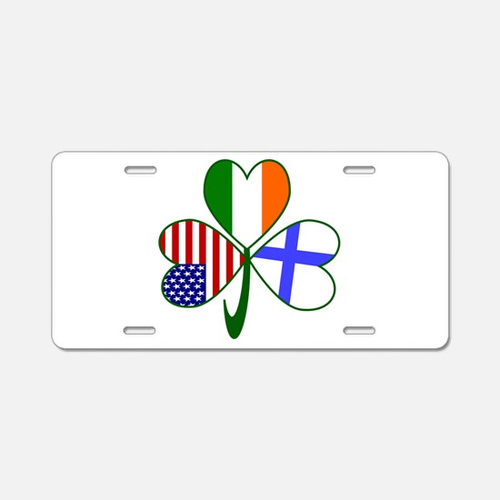 Shamrock of Finland Aluminum License Plate