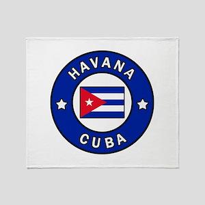 Havana Cuba Throw Blanket