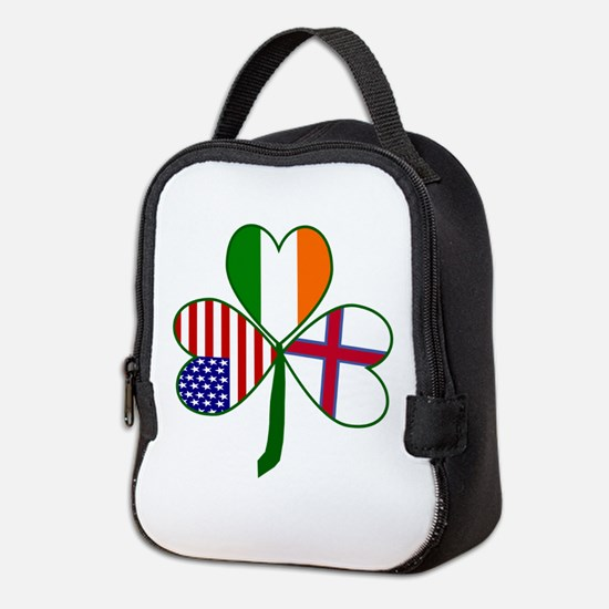 Shamrock of Faroe Islands Neoprene Lunch Bag