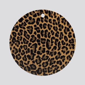 leopard 6500 X 6500 px Round Ornament