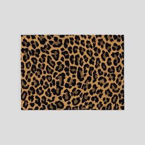 leopard 6500 X 6500 px 5'x7'Area Rug