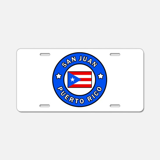 San Juan Puerto Rico Aluminum License Plate