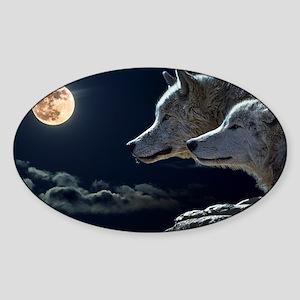 Moon & Wolfs Sticker