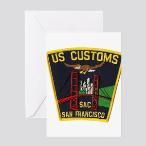 San Francisco Customs SAC Greeting Card