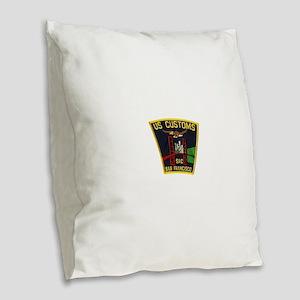 San Francisco Customs SAC Burlap Throw Pillow