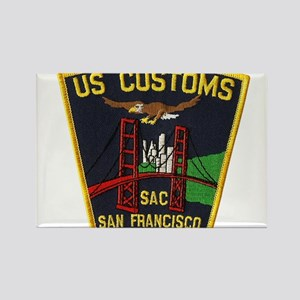 San Francisco Customs SAC Rectangle Magnet