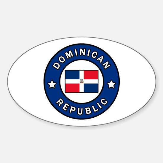Cute Dominicano Sticker (Oval)