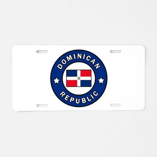 Dominican Republic Aluminum License Plate