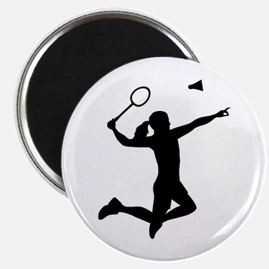 Badminton woman girl Magnet