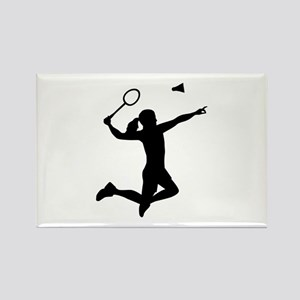 Badminton woman girl Rectangle Magnet