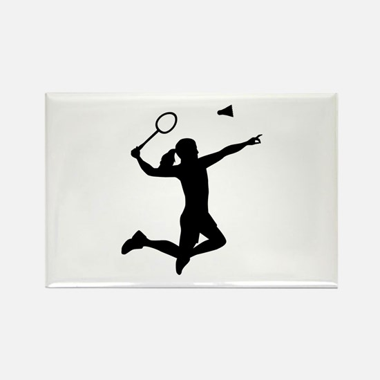 Badminton woman girl Rectangle Magnet