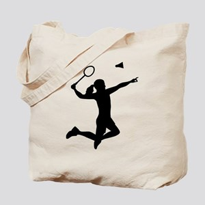 Badminton woman girl Tote Bag