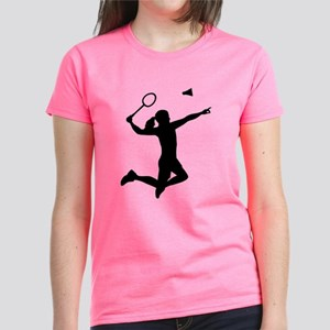 Badminton woman girl Women's Dark T-Shirt
