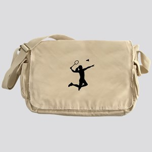 Badminton woman girl Messenger Bag