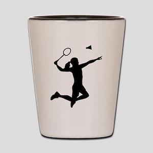 Badminton woman girl Shot Glass
