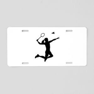 Badminton woman girl Aluminum License Plate