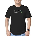 Spinach Junkie Men's Fitted T-Shirt (dark)
