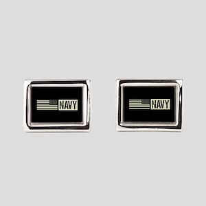 U.S. Navy: Navy (Black Flag) Rectangular Cufflinks