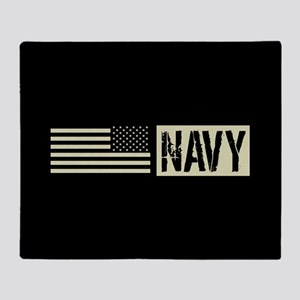 U.S. Navy: Navy (Black Flag) Throw Blanket