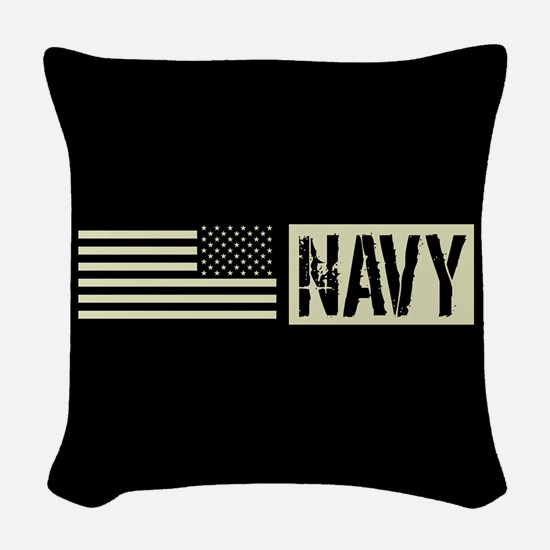 U.S. Navy: Navy (Black Flag) Woven Throw Pillow