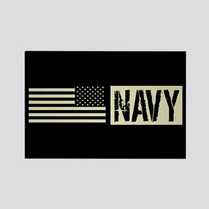 U.S. Navy: Navy (Black Flag) Rectangle Magnet