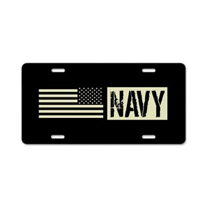 56e322647bcb U.S. Navy Aluminum License Plates - CafePress