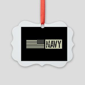 U.S. Navy: Navy (Black Flag) Picture Ornament