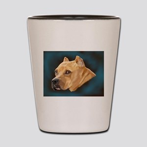 Pitbull Art Portrait Shot Glass