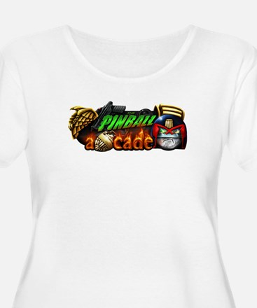 Pinball Arcade Justice Plus Size T-Shirt