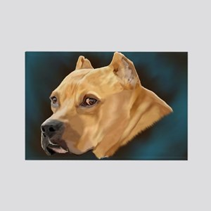 Pitbull Art Portrait Magnets