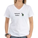 Spinach Addict Women's V-Neck T-Shirt