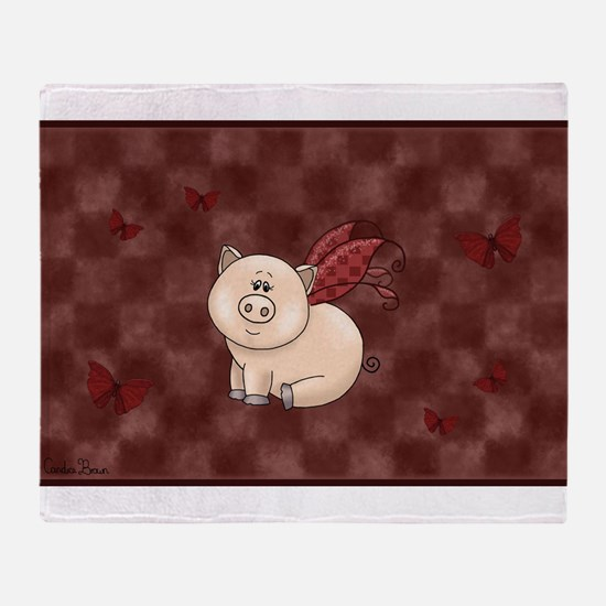 Funny Oink Throw Blanket