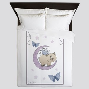 Piggy on the moon II Queen Duvet
