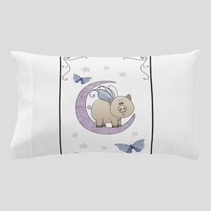 Piggy on the moon II Pillow Case