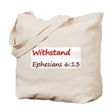 Eph 6:13, Tote Bag