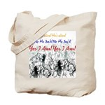 1 John 4-Ab He's Alive Tote Bag